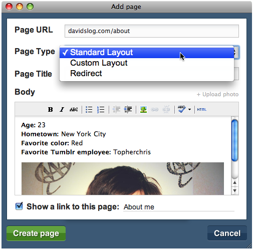 How To Add A Static Page To Your Tumblr Blog - Grow Online